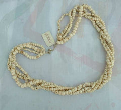 4 Strand Bone Necklace NWT Macy's India Beige Brown Jewelry
