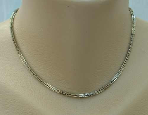 Square Cable Chain Necklace 15 inches Man or Woman Unisex Jewelry