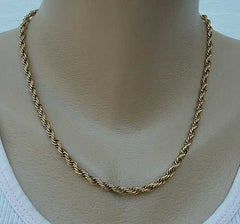 Citation Signed Rope Chain Necklace 18 inches Vintage Jewelry