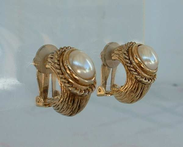 Carlisle Pearl Huggie Clip On Earrings