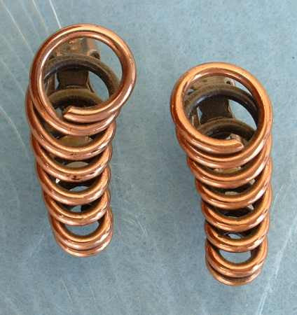 RENOIR Copper Coil Earrings Vintage Clip Ons Vintage Jewelry