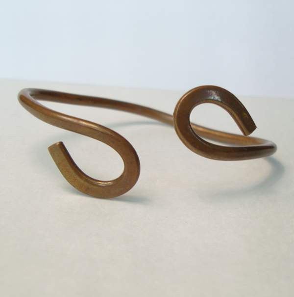 Free Form Copper Plated Bracelet Vintage Jewelry