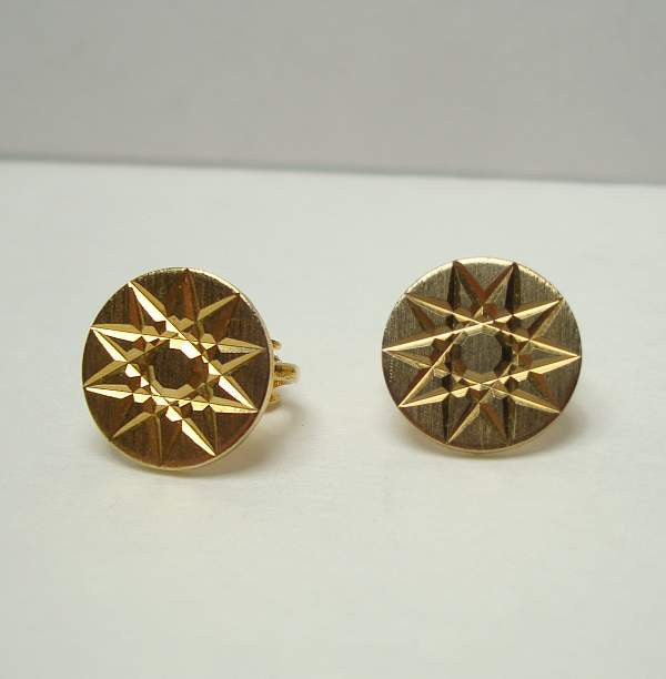 Celtic Star of David Small Clip On Earrings Scottish Vintage Jewelry