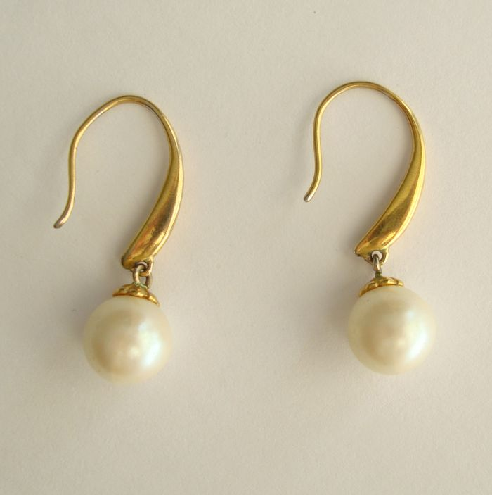 Elegant Solitaire Pearl Earrings Pierced Ears Wedding Prom Jewelry