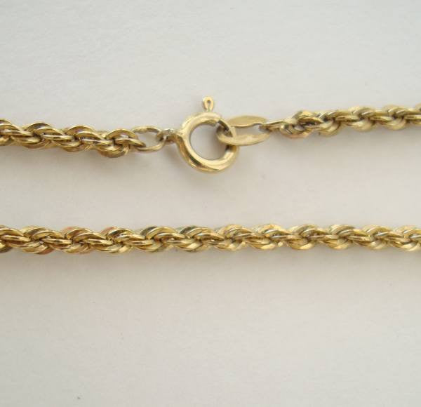 "30"" Vermeil Diamond Cut Rope Chain Necklace Sterling Silver Jewelry"