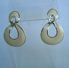 Napier Off-White Door Knocker Earrings Post Style Vintage Jewelry