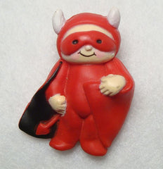 Lehman Fun World Red Devil Pin Figural Jewelry