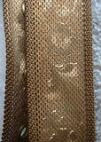 Gold Mesh Belt Art Nouveau design Vintage Clothing Accessory