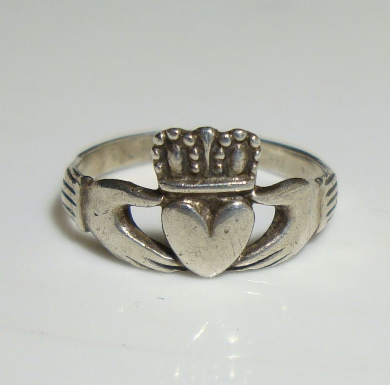 Size 5 Celtic Claddagh Sterling Silver Ring Size New Vintage Wholesale Wedding Band