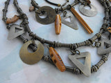 Bohemian Belt Necklace Set Avante Garde Dangles Heavy Vintage Jewelry