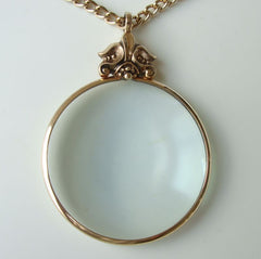 Avon Magnifier Pendant Necklace Magnifying Vintage Jewelry