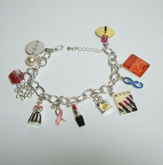 Avon 125 Anniversary Charm Bracelet Colorful Enamel 12 Charms Awareness Jewelry 2013