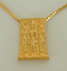 Kenneth J Lane Egyptian Revival Pendant Necklace Classic Vintage Designer Jewelry