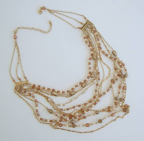 Nancy and rise 9 strand swag necklace fab beads vintage for Nancy b fine jewelry