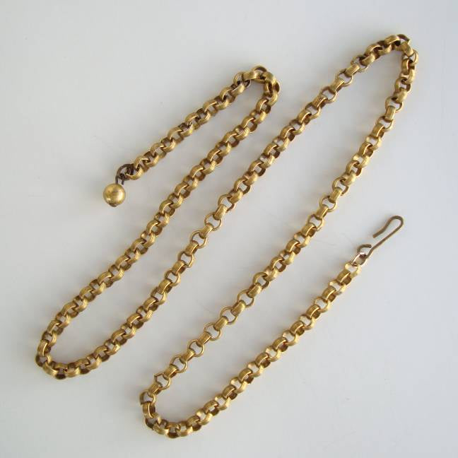 Antiqued Goldtone Rolo Necklace Chain 22 inches Vintage Jewelry