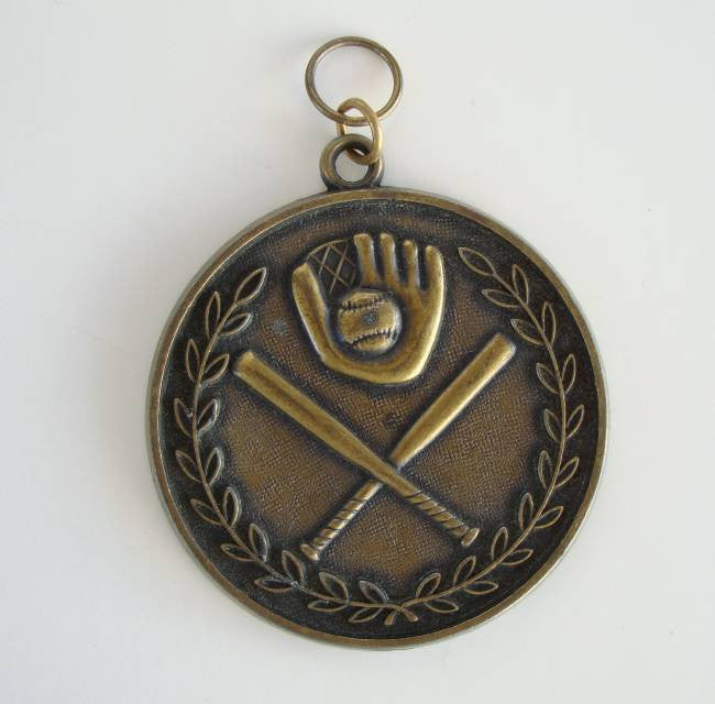 Brass Baseball Medallion Pendant Sports Jewelry