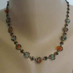 Xiomara Castro Xc Spinning Gemstone Chips Necklace