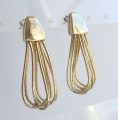 Dakota West Shube Retro Vermeil Earrings Liquid Gold Designer Jewelry