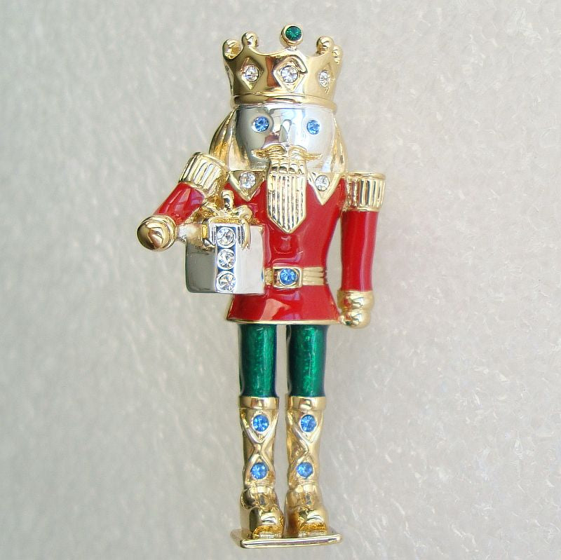 2939c0b43d1 Exquisite Enameled Nutcracker King Brooch Colorful Christmas Holiday J –  Sharon's Vintage Jewelry