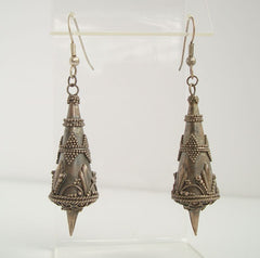 Antique Art Nouveau Silver Earrings Maybe Moroccan Vintage Jewelry