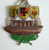 Huge 1983 German Wandertag Medal Medallion Titanic Copper Ship Eagle Bayern