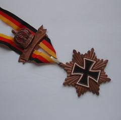 HUGE 1982 German Volkswanderung Medal Copper Maltese Cross Crown Vintage