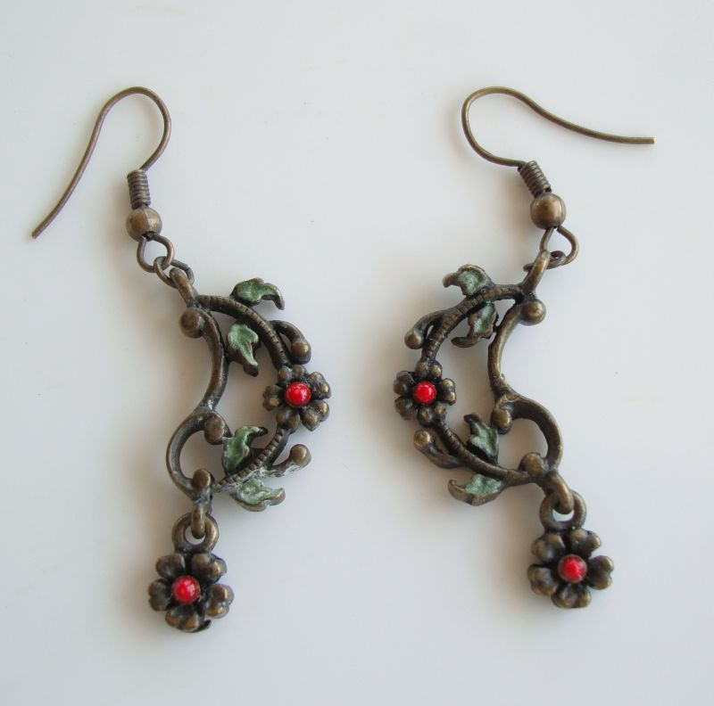 Sweet Romance Probably Openwork Pierced Earrings Floral Jewelry