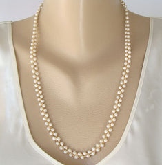 Marvella Woven 2-Strand Pearl Necklace New w Tag Designer Jewelry