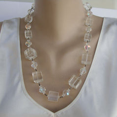 VENDOME Coro Lucite Cube Necklace Bracelet Set c1955 Retro Vintage Jewelry