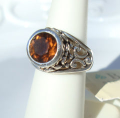 Barse Topaz Sterling Silver Ring Size 6.75 NWT Contemporary Gemstone Jewelry