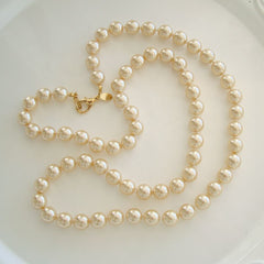 Joan Rivers Long Lustrous Pearl Necklace 30 Inches Designer Jewelry