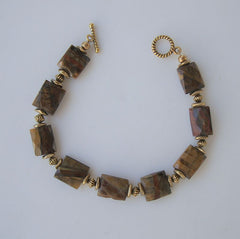 Tiger's Eye Hawk's Eye Quartz Bracelet Faceted Stones Gemstone Jewelry