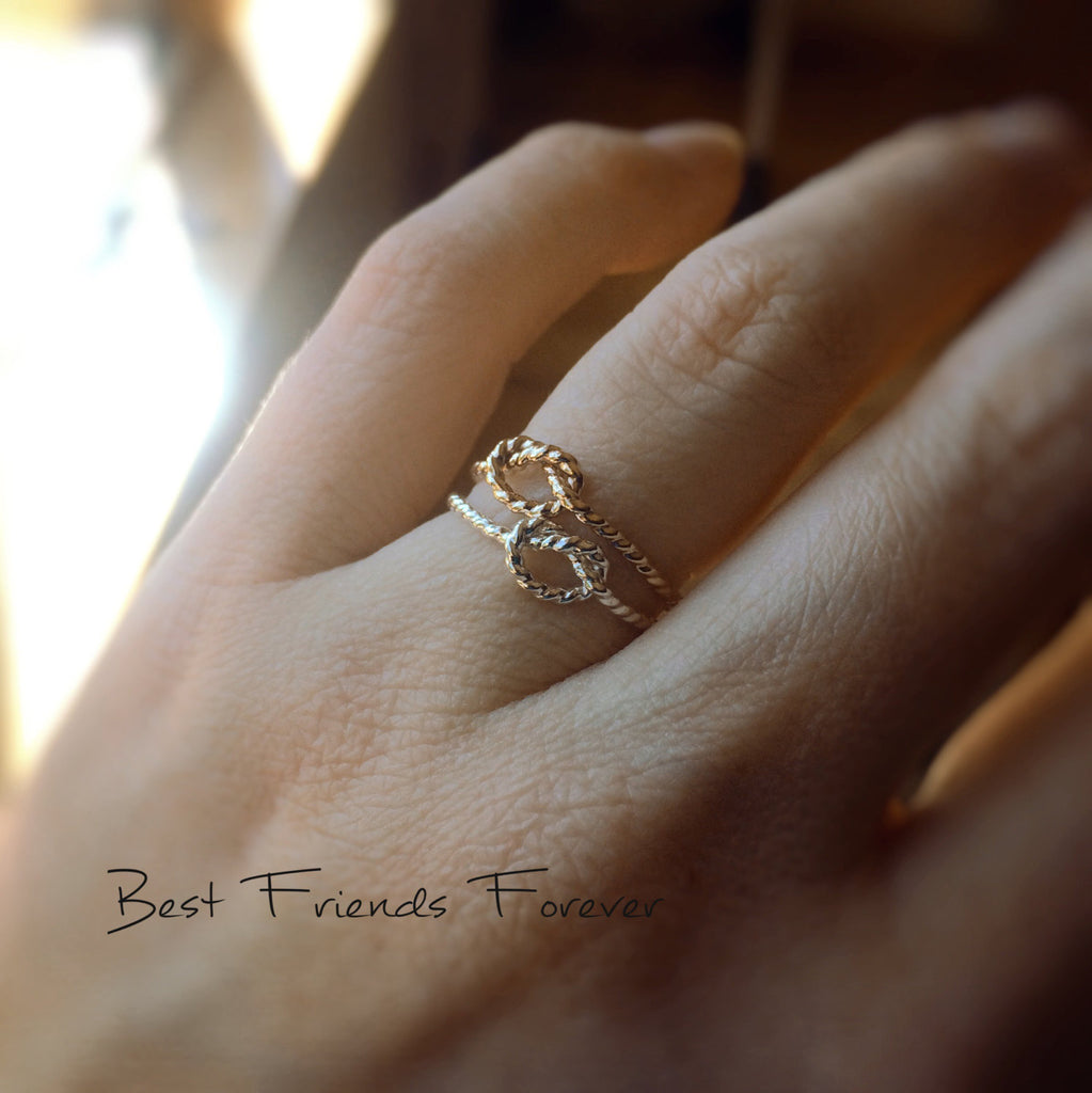 Knot Rings, Knot Rings, Rope Knot Rings, BFF Rings, Best Friends Jewelry, Gift For Friends, Remember Rings, Never Forget, BFF, Eternity