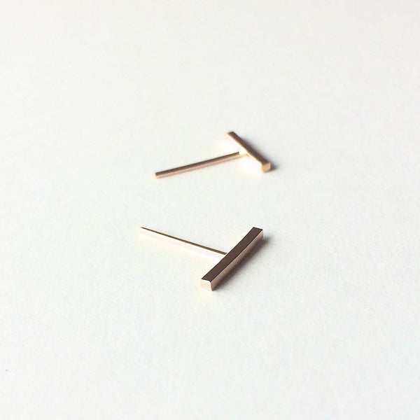 Tiny Gold Bar Studs, Bar Earrings, Gold Bar Earrings, Post Earrings, Chic, Minimal Earrings, Modern Jewelry, Boho, Gypsy, Everyday, Simple