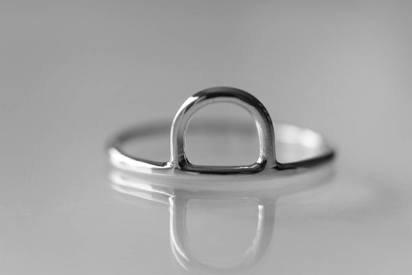 Arc Ring, Arch Ring, Half Circle Ring, Simple Band, Semi Circle Ring, Unique Ring, Minimalist Rings, Modern Ring, Stacking Ring, Gift