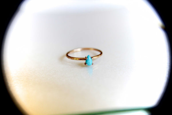 Turquoise Stacking Ring, Turquoise  Ring, Natural Gemstone Ring, Turquoise, Turquoise Jewelry, Gemstone Stacking Ring, Pear, Teardrop, Gift