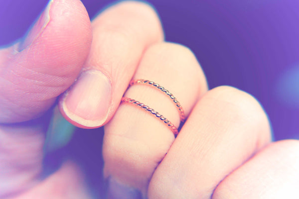 14kt Gold Rope Ring, Stackable Ring, Twisted Ring, Rope Band, Simple Band, Minimalist, Thumb Ring, Stacker, Boho Chic, Twist Ring, Gift