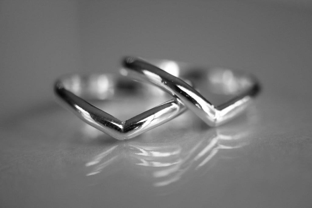 Sterling Silver Double Chevron Ring Set, Knuckle Rings, Sterling Knuckle Rings, Stacking Rings, above knuckle ring, Rings, Chevron Rings