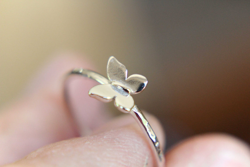 Butterfly Ring, Butterfly Jewelry, Simple Stacking Ring, Gift, Nature Jewelry, Nature Lover, Modern Jewelry, Minimalist, Gift
