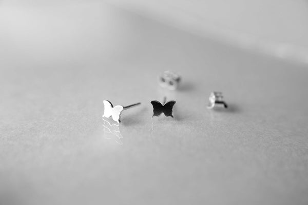 Tiny Butterfly Studs, Small Butterfly Earrings, Butterfly, Tiny Earrings, Modern Studs, Minimalist Jewelry, Silver Butterfly Earrings, Gift