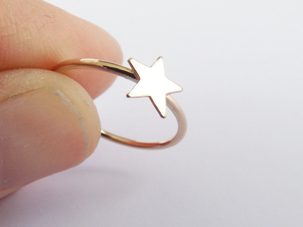 Gold Star Stack Ring,Star Stack Rings,Gold Stack Rings,Gold Filled Stack Ring,Stack Band Rings,Band Ring,Star,Star Ring,Simple,Gold Ring
