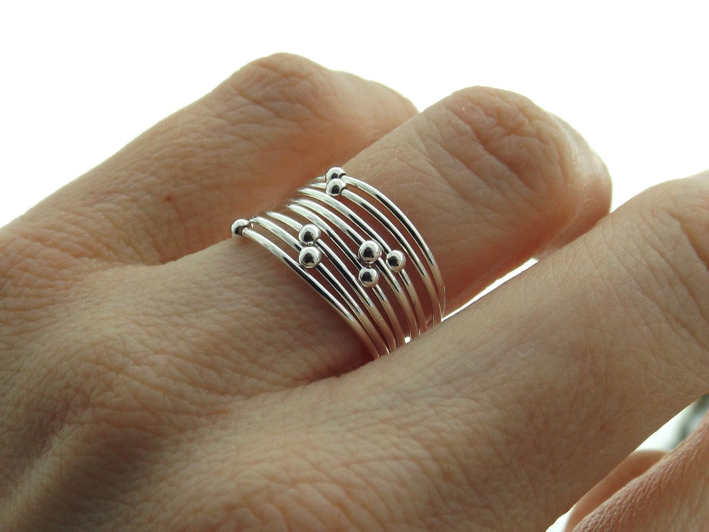 Choose Your  Orbit Ring, Spinner Rings, Stacking Rings, Modern Sterling Spinner Ring, Thin Ring, Beaded Ring, Whisper Rings, Delicate Rings