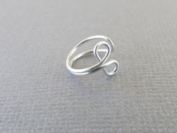 Simple OM Design Sterling Ear Cuff, Ear Cuff, Everyday Ear Cuff, Ear Cuff, Ear Cuff Earring, Cuff, OM Jewelry, Classic, Modern, Minimal
