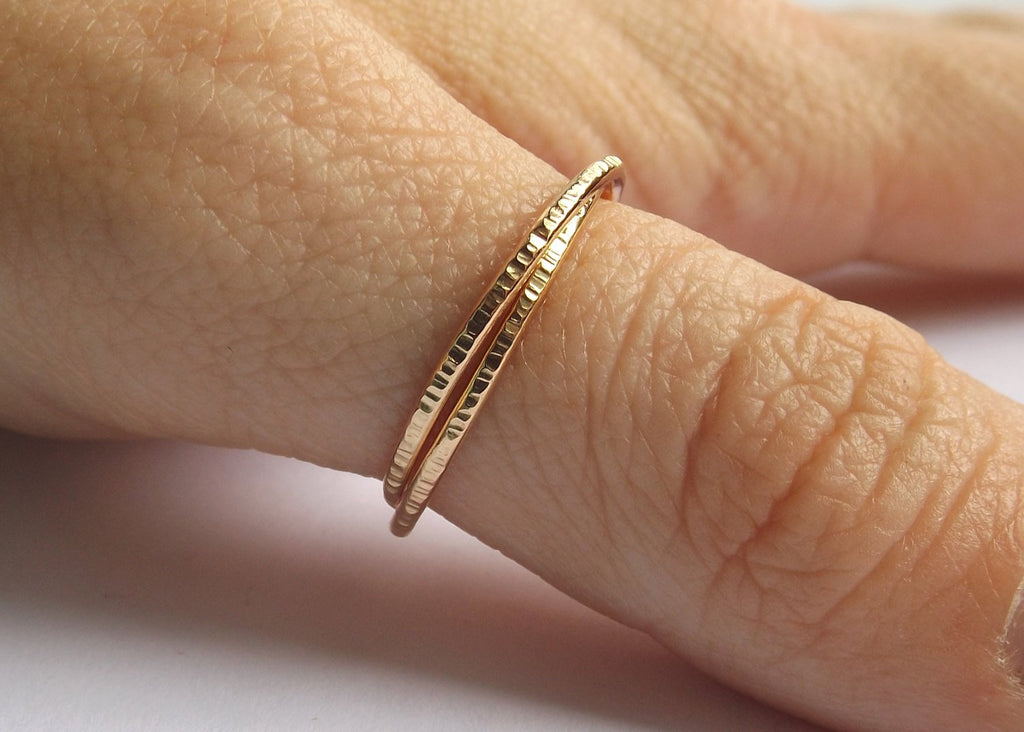 Gold Interlocking Thumb Rings,Thumb Rings,Gold Thumb Ring,Textured Rings,Rolling Ring,Stacking Rings, Minimalist Rings, Unique Rings, Rings
