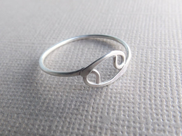 Skinny Zodiac Ring, Stacking Rings, Zodiac Rings, Sterling Silver Cancer Sign Rings, Minimalist Cancerian Jewelry, Zodiac Jewelery