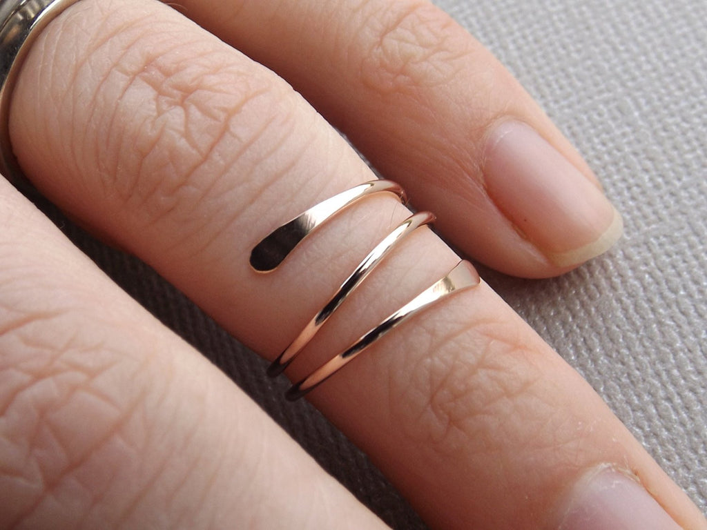 Super Sale! 14k Gold or Rose Fill Knuckle Ring, Knuckle Rings,Mid Rings,Above knuckle ring, Toe Rings, Rings, Rose or Gold Fill Knuckle Ring