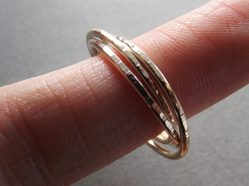 Notched Interlocking Thumb Ring,Thick Thumb Ring,Gold Russian Ring,Textured Ring,Rolling Ring,Stacking Rings,Minimalist Rings, Unique Rings