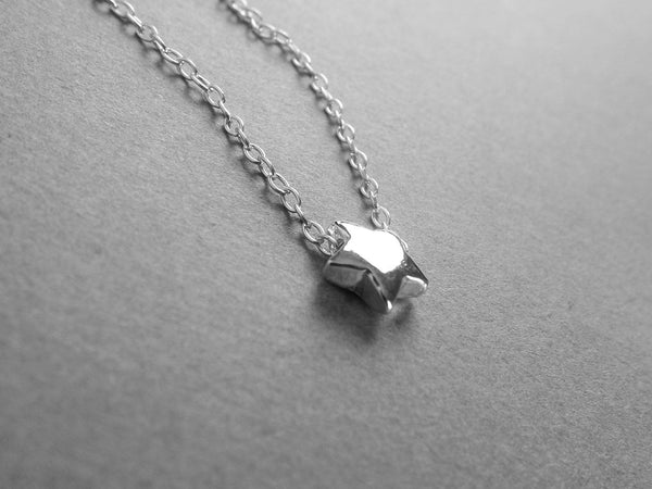 Star Necklace, Tiny Star Necklace, Sterling Necklace, Tiny Necklace, Dainty Necklace, Modern Necklace, Minimalist Star Necklace, Star