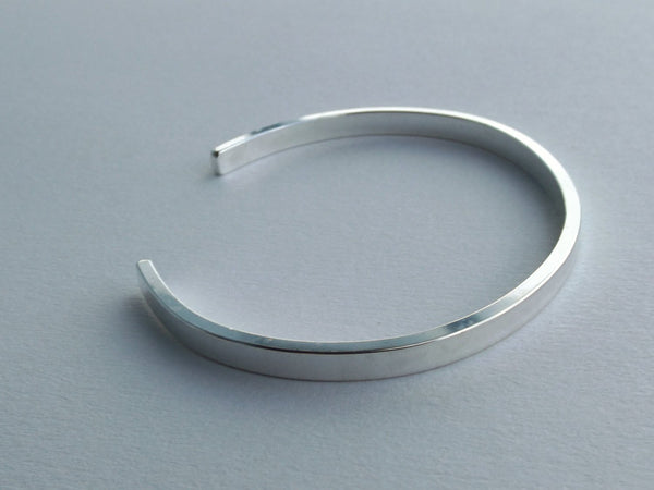 Simple Silver Cuff Bracelet, Wide Silver Stacking Cuff, Modest Cuff Bracelet, Thick Cuff Bracelet, Cuff, Simple, Layering Cuff, Thick Cuff