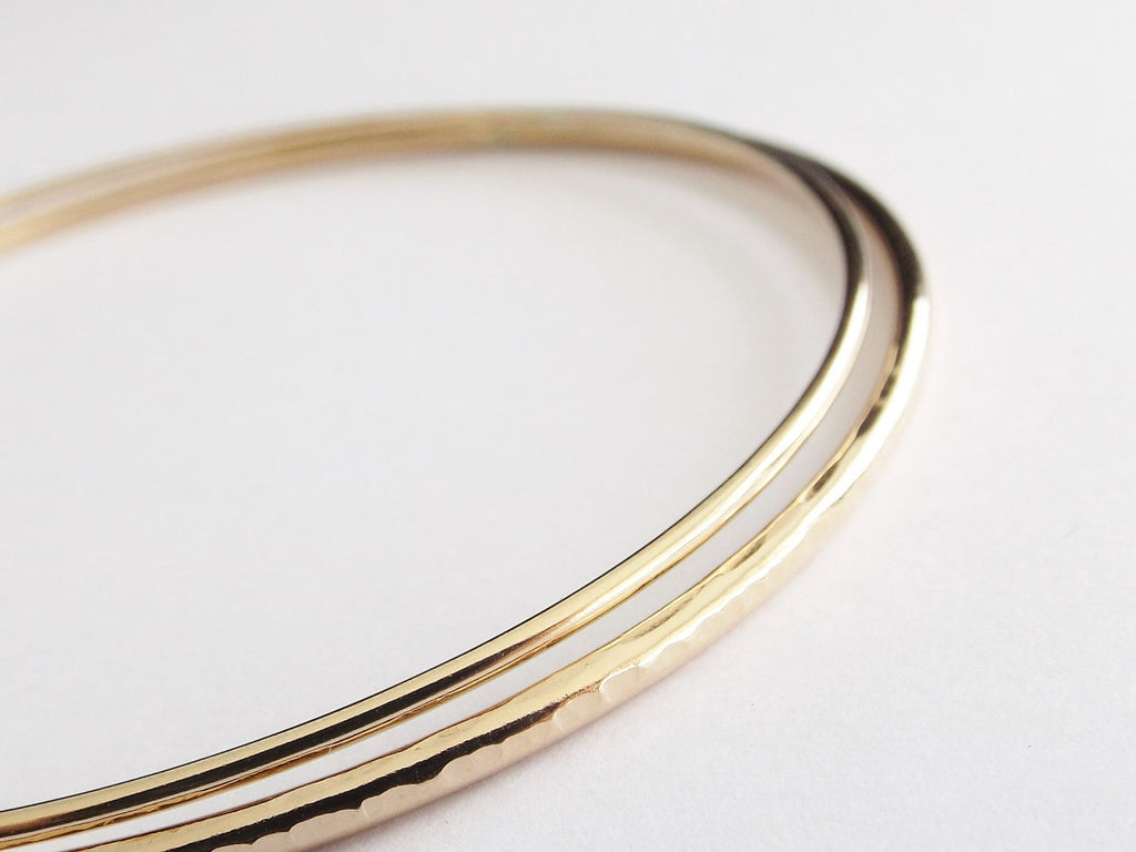 Gold Initial Bangle Set, Bracelets, Bangle Bracelet Set, Boho Bracelets, Personalized Jewelry, Boho Jewelry, Boho Bangle Bracelet